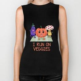 I run on Veggies Vegan Vegetarian vegetarianism Biker Tank