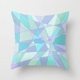 Shattered Purple & Green Throw Pillow