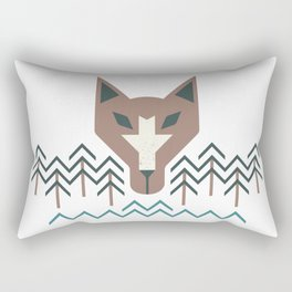 The Wolf For The Trees Rectangular Pillow