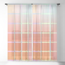 Colorful abstract gradient design Sheer Curtain