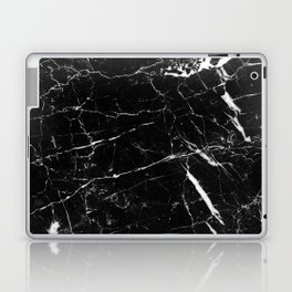 Black and White Marble Laptop & iPad Skin