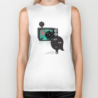 tv Biker Tanks featuring TV by BUBUBABA
