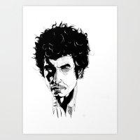 bob dylan Art Prints featuring Bob Dylan by Giorgia Ruggeri