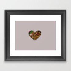 mini heart Framed Art Print