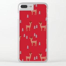 Rudolph christmas santa's reindeer forest winter deer Clear iPhone Case