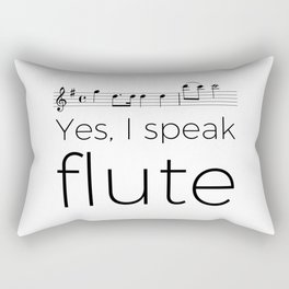 Do you speak flute? Rectangular Pillow