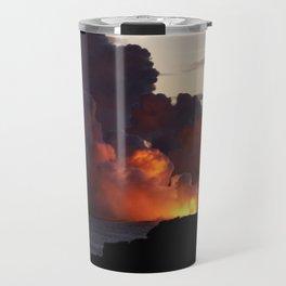 Lava Vaporizes Ocean Travel Mug