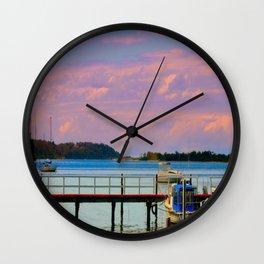 Twilight over the Bay Wall Clock
