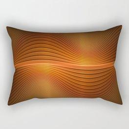 Orange Sine Wave Rectangular Pillow