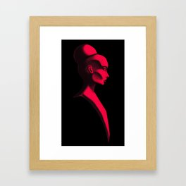 Red Cameo Framed Art Print