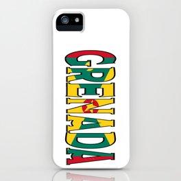 Grenada Font with Grenadine Flag iPhone Case