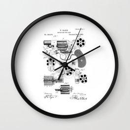 1881 Revolver Patent  Wall Clock