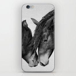 Horses - Black & White 4 iPhone Skin