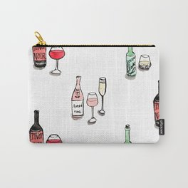 #DrinkWineDay Pattern Carry-All Pouch