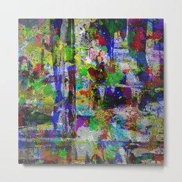 Circus Of Colour - Mixed Colour Abstract Metal Print
