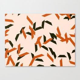 random trapezoids pattern_salmon Canvas Print