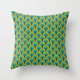 Paon bleu Throw Pillow