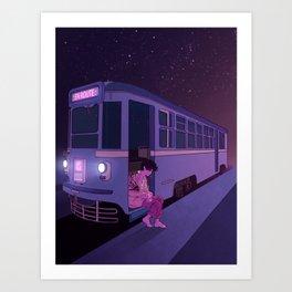Tram Car Art Print