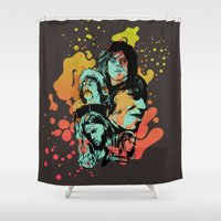 floyd Shower Curtains featuring Pink Floyd Tribute by RJ Artworks