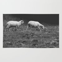 sheep Area & Throw Rugs featuring Sheep by Pati Designs