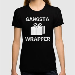 Christmas Gangsta Wrapper Funny Wrapping Presents T-shirt