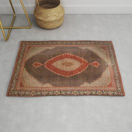 Persia Tabriz 19th Century Authentic Colorful Red Redish Cowboy Vintage Patterns Rug