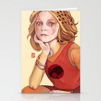 thundercats Stationery Cards featuring Thunder cub Cheetara by Sheharzad