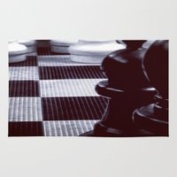 chess Area & Throw Rugs featuring Chess Perspective by Thick Paint Works
