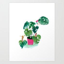 Cheeseplant love Art Print