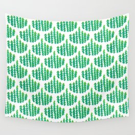 Natural Leaves Beautiful Scalloped Pattern Wall Tapestry