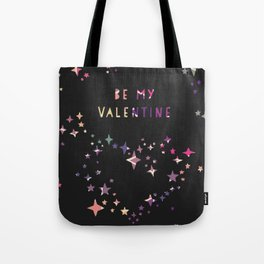 Be my valentine wall art print Tote Bag