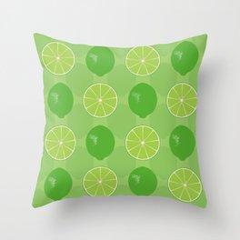 Lime Zing Throw Pillow