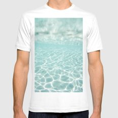 Under Water Light Mens Fitted Tee White MEDIUM