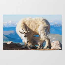 Mountain Goats Nanny And Kid Rug