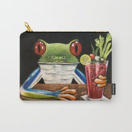 """""""Bloody Mary"""" - Frogs After five collection Carry-All Pouch"""