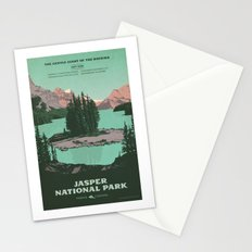 Jasper National Park Poster Stationery Cards