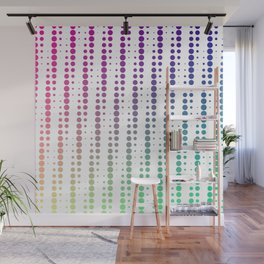 Dots in a half tone Wall Mural