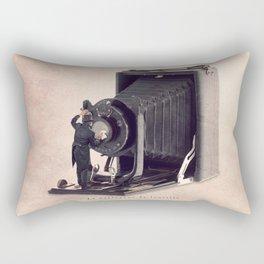 The lens cleaner Rectangular Pillow