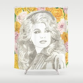 Jolene with Yellow Roses Shower Curtain