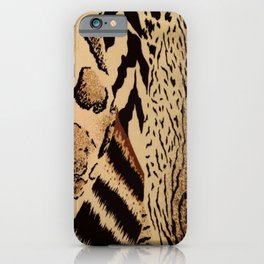 Leopard,tiger print iPhone Case