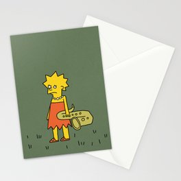 Sad Lisa in a Field Stationery Cards