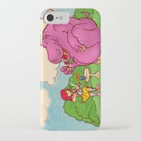 hippo iPhone & iPod Cases featuring Hippo by Rafael Paschoal