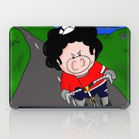 cycling iPad Cases featuring Cycling pig by Afro Pig