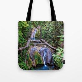 Valley of 33 waterfalls Tote Bag