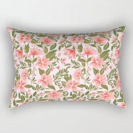 Pink Botanical Dream Pattern Rectangular Pillow
