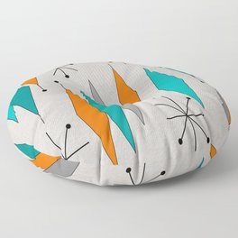 Mid-Century Modern Diamond Pattern Floor Pillow