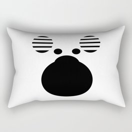 Moose Black Rectangular Pillow