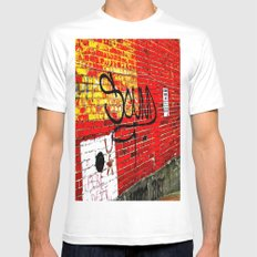 Wall of Sound MEDIUM Mens Fitted Tee White