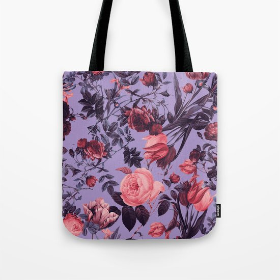 Romantic Floral Pattern Tote Bag