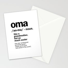 Oma Gift For Grandma Women Birthday Mother Day Gift Stationery Cards